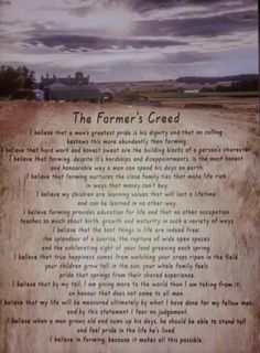 The Farmers Creed