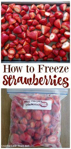 How to Freeze Celery - Freezing fruit - Frozen Fruit Recipes Freezing Strawberries, Freezing Fruit, Freezing Vegetables, Frozen Strawberries, Fruits And Veggies, Recipes For Strawberries, Freezing Celery, How To Freeze Celery, Food To Freeze