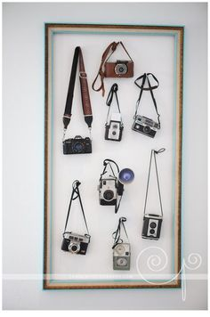 We're seeing vintage cameras on display all throughout flea markets and antique malls - bring your collection together within one custom frame!