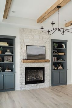 Home Living Room, House, Fireplace Built Ins, Home, Home Fireplace, Home Remodeling, Cheap Home Decor, House Interior, Home Remodeling Diy