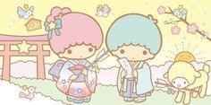 Sanrio: Little Twin Stars:) My Melody Sanrio, Hello Kitty My Melody, Sanrio Characters, Cute Characters, Little Twin Stars, Little Star, Cute Japanese, Japanese Art, Badtz Maru