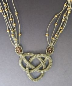 this pendant is made using a micro macrame technique by tannia (but I think it is tatting!)