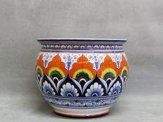 Piatto in ceramica di Faenza decorato a mano a Pavona, cm 24,5