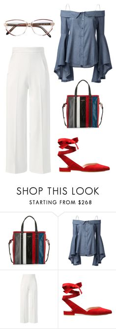 """""""Bez tytułu #147"""" by minia001 ❤ liked on Polyvore featuring Balenciaga, G.V.G.V., Roland Mouret and Givenchy"""