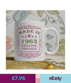 55th Birthday Present Mug Gift Born 1963 Idea Men Women Ladies Dad Mum Happy 55 Overig