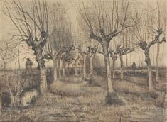 Landscape Sketch, Landscape Drawings, Abstract Landscape, Vincent Van Gogh, Van Gogh Famous Paintings, Van Gogh Drawings, Artist Van Gogh, Van Gogh Landscapes, Van Gogh Museum
