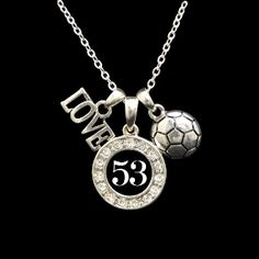 Custom Number 3 Charm Soccer Necklace - Charming Collectables