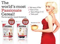 Dal Canada arrivano i SEX-CEREALI..    I cereali della passione da consumare a colazione, in versione per Lui e per Lei!    Quali sono e dove trovarli ce lo dice Davide Cocco di Il Cucchiaio d'Argento   Il nuovo cibo afrodisiaco.