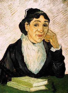Vincent Van Gogh - Post Impressionism - Saint REMY - L'Arlésienne (Madame Ginoux) d'après Gauguin - 1890