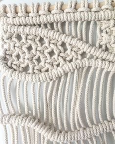 White goodness ▫️⬜️▫️ Weaving Wall Hanging, Wall Hangings, Macrame Knots, Merino Wool Blanket, Etsy, Hunter Gatherer, Crafts, Perception, Stitches