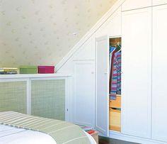 Un dormitorio abuhardillado