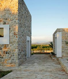 Stone from a local quarry provided the cladding, paving and retaining walls of this holiday home by DVA Arhitekta, built on a site in Bosnia and Herzegovina Old Stone Houses, Maine House, Home Design, Deco, Building, Stone Walls, Ilocos, Stone Bathroom, Stone Veneer