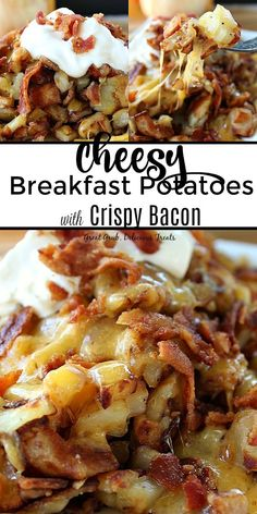 Cheesy breakfast potatoes with crispy bacon are loaded with cheese diced potatoes and apple wood bacon a delicious potato recipe potato crispybacon cheesypotatoes breakfastrecipes greatgrubdelicioustreats country breakfast potatoes Bacon Breakfast, Breakfast Potatoes, Breakfast Dishes, Breakfast Recipes, Breakfast Time, Easy Brunch Recipes, Bacon Recipes, Potato Recipes, Cooking Recipes
