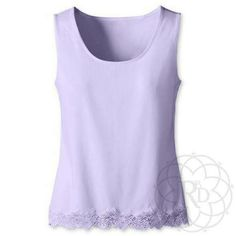 "Coldwater Creek Lavender Lace Trim Tank Lovely Lavender Lace Trim Tank Top.  ▪ CWC Size Medium = Size 10 - 12  ▪ Bust: 37"" inches (unstretched)  All measurements are approximate.   Brand New with Tag. Never worn.   ✨ FINAL PRICE ~ NO OFFERS ✨    PRICE IS FIRM unless bundled     All Sales Final 