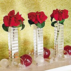 Show Off Your Poinsettias | Mantel Poinsettias | SouthernLiving.com