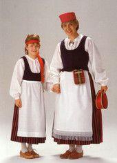 Laatokan-Karjala | Helmi Vuorelma Oy Folk Costume, Costumes, World Cultures, Finland, Russia, Lady, 7 Continents, Birches, Clothes