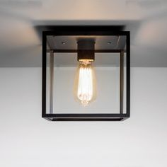 Astro Lighting Box Single Light Exterior Porch Ceiling Light In Black Finish With Clear Glass Panels Pergola Lighting, Outdoor Wall Lighting, Exterior Lighting, Home Lighting, Bathroom Lighting, Lantern Lighting, Porch Ceiling Lights, Porch Lanterns, Wall Lights