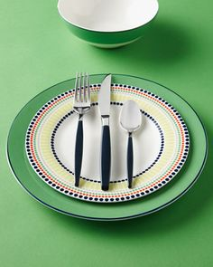 """Four-Piece """"Hopscotch Drive"""" #Dinnerware Place Setting by #katespade new york #tabletop #Horchow #entertaining"""
