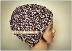 fuzzy crochet hat