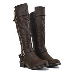 Buy Women's Knee-High Pocket Boot Justina-02 S Brown Online. Find more women's knee-high, low-heel, and leather boots at ShiekhShoes.com.