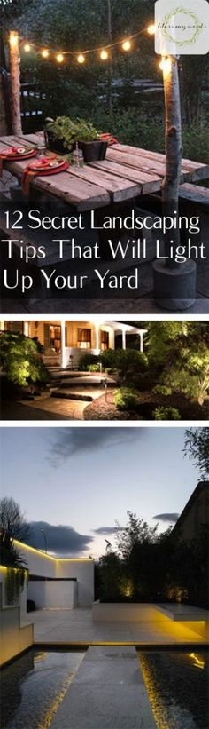 How to Light Your Yard Landscaping How to Landscape With Lighting Outdoor Lighting Ideas Outdoor Lighting DIY DIY Lighting Projects Simple Projects Simple Lighting Projects Outdoor DIY Outdoor DIY Projects Popular Pin