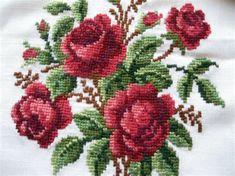 Resultado de imagen de punto de cruz patrones flores