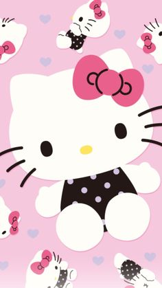 Hello Kitty Backgrounds, Hello Kitty Wallpaper, Kawaii Wallpaper, Iphone Wallpaper, Hello Kitty Imagenes, Hello Kitty Pictures, Kitty Images, Hello Kitty Items, Friends Wallpaper