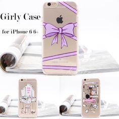 KLARKETONG Cute Silicone Case for iPhone 5 5s SE 6 6S 7 Plus