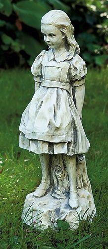 Heart shaped stepping stones vanilla slate alice in - Alice in wonderland garden statues ...