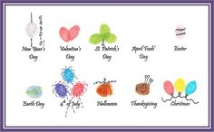 Gift for grandparents. Fingerprint calendar or all year celebration plate.