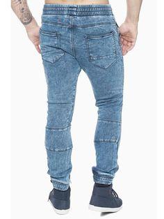 6e4545deb F&S Men Slim Fit Biker Jogger Jeans - Washed Blue - FASH STOP S Man,