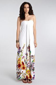 c3e666ace8d Warehouse Sunflower Print White Maxi Dress
