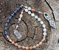 The Sun Moon and Stars Pagan Prayer Beads by inkleing on Etsy, $20.00