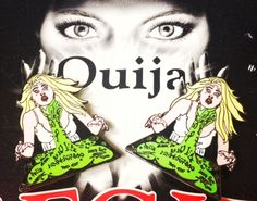 """Get a grip Paige!  It's only a Ouija Board!  1.75"""" Hard Enamel, Custom Back Stamp, Double Rubber Clutch, Glow In The Dark! INTERNATIONAL CUSTOMERS: I DO ship worldwide!  If you wou..."""