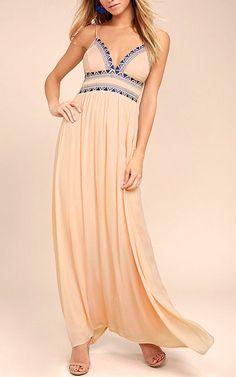 Giza Blush Pink Embroidered Maxi Dress @bestmaxidress