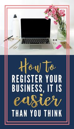 How to Register your Business Its Easier Than you Think! Small Business Sarah - Business Plan - Ideas of Tips On Buying A House - Quickly learn how to register your new small business with your state and the federal government. Youll be glad you did! Craft Business, Home Based Business, Creative Business, Online Business, Business Education, Etsy Business, Small Business Bookkeeping, Small Business Marketing, Content Marketing