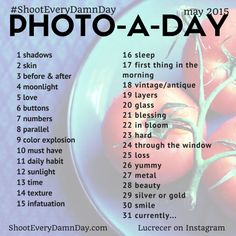 May 2015 Photo Challenge. Curated by the community! Photography Challenge, Photography Projects, Photography Photos, Photography Lessons, Fashion Photography, 30 Days Photo Challenge, Art Challenge, Atelier Photo, Photo Class