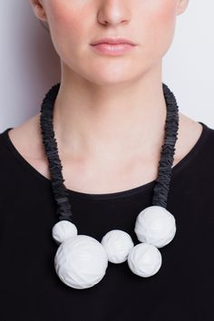 SU-MIN, necklace made of porcelain and leather