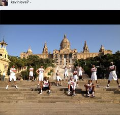 A pretty sweet photo of #TeamUSA #Basketball in #Spain via Kevin Love's instagram. Funny thing is, clearly KLove didn't get the crossed armmemo. #Hoops #Olympics #London2012 #DreamTeam
