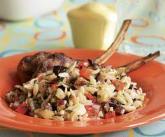 Orzo & Grilled Vegetable Salad with Feta, Olives & Oregano (grilled ...