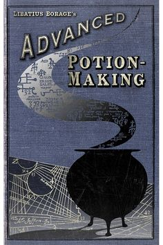 Discover the secrets behind the magic of the MinaLima exhibition in London on HOUSE by House & Garden, including this cover for Harry Potter's Advanced Potion Making book