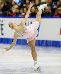 Amelie Lacoste ladies free program 2013 Skate Canada -Pink Figure Skating / Ice Skating dress inspiration for Sk8 Gr8 Designs.