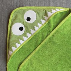 Tis the season for Monsters! Make bathtime fun with this easy monster hooded towel.