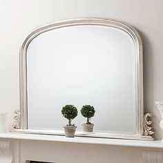 Silver Regency Overmantel Mirror
