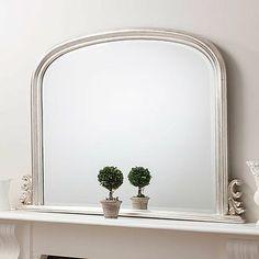 Silver Regency Overmantel Mirror