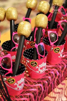 Rock & roll birthday party favors!  See more party planning ideas at CatchMyParty.com