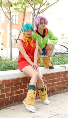Anime: Dragon Ball. Characters: Trunx. Version: Child. & Bullma. Version: Midage Mother. Cosplayers: Andree Nicole Warner 'aka' Technoranma (Quantum Destiny) & Alex Warner 'aka' Glay. From: Ontario, Canada. Events: 2009 Otakon & 2010 Anime North.