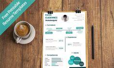 30 Creative Free Printable Resume Templates to Get a Dream Job