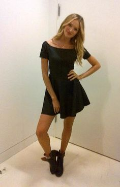 dress + boots | candice swanepoel