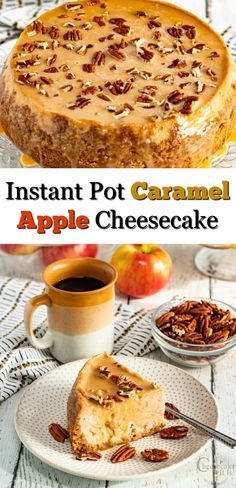 Nothing like the mix of flavors like apple and caramel! This Instant Pot Caramel Apple Cheesecake is an easy way to have the flavor of fall any time of year.